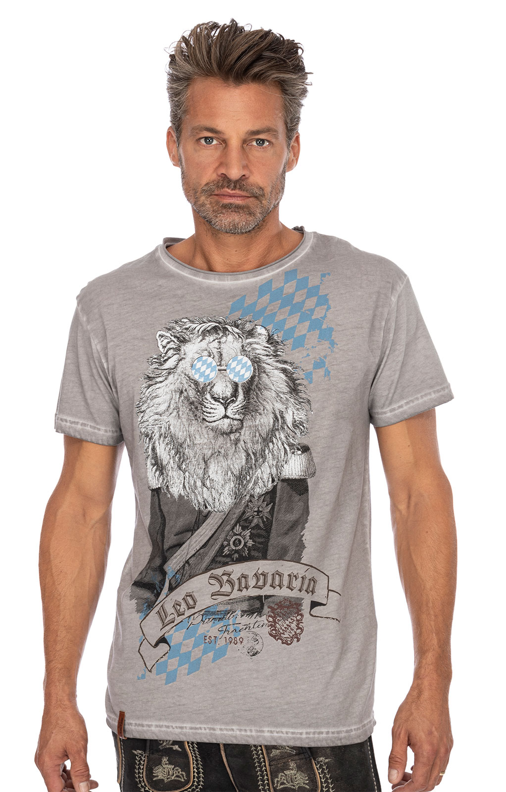 Maglietta Trachten G15 - LEO BAVARIA grigio von Marjo