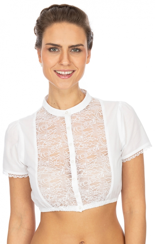 Traditional dirndl blouse B7090 white