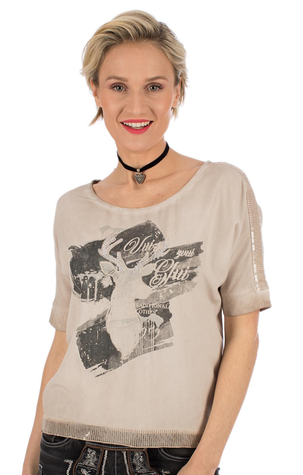 Trachten T-Shirt D37 - LUCI beige von Marjo