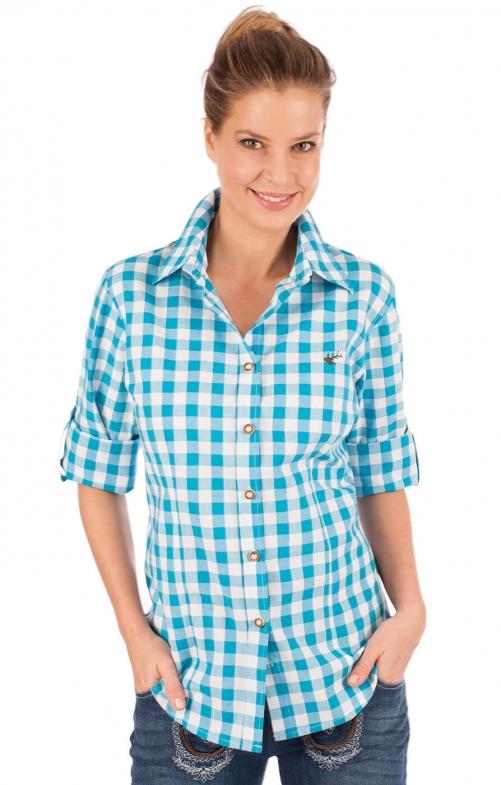 Traditional blouse ISIDORA turquoise