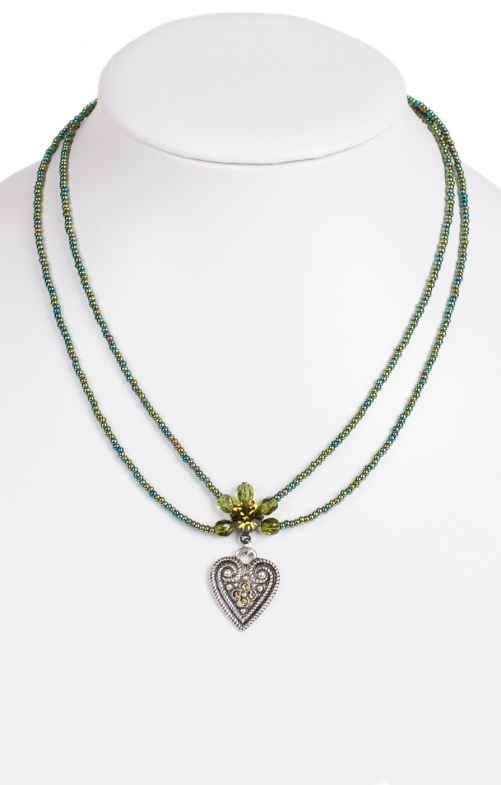 Traditional necklace 13007-2044 oliv