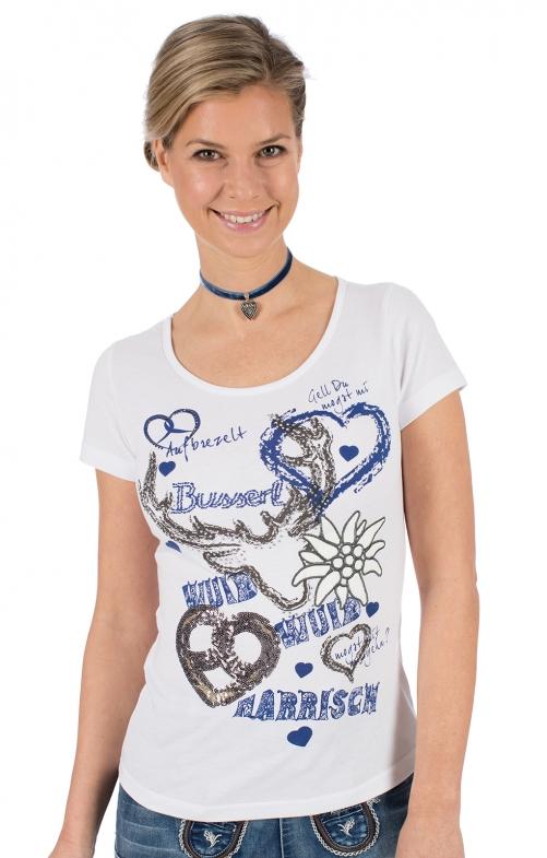 Trachten T-Shirt W13-NARRISCH weiß