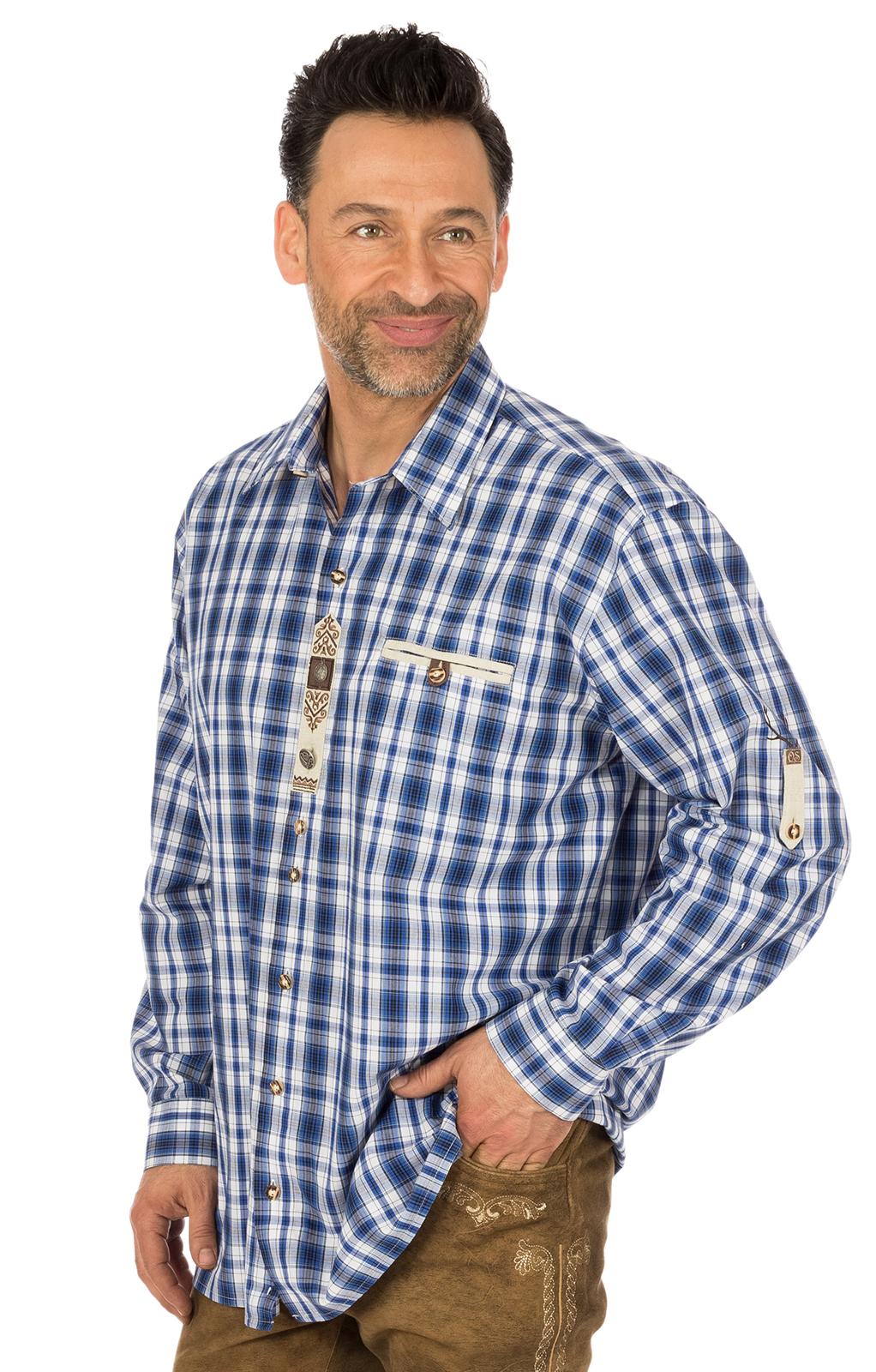 Camicia per Trachten a quadretti blu von OS-Trachten