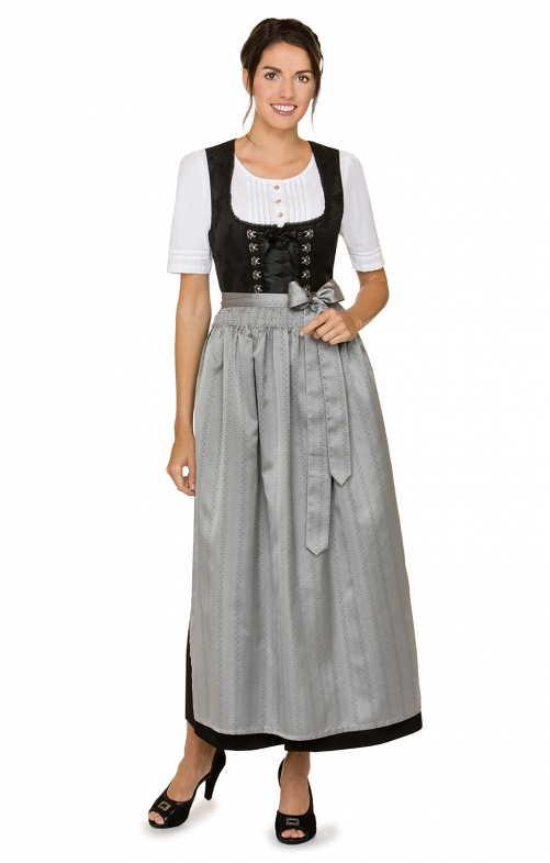 Dirndl apron long SC270 gray 96 cm