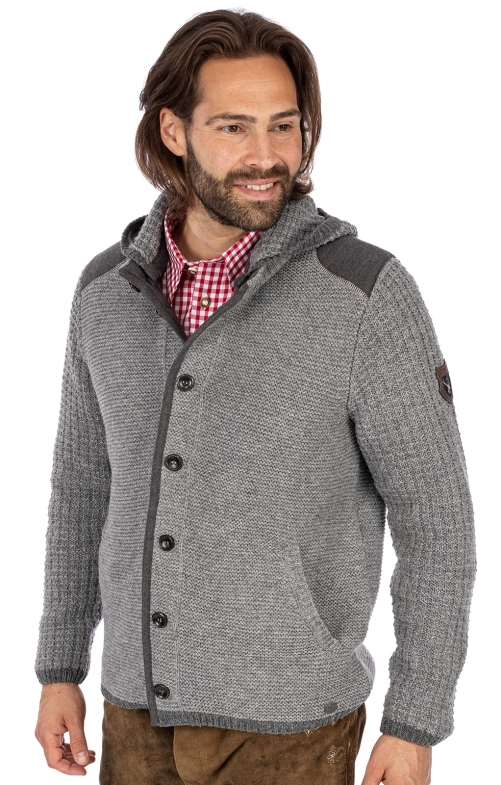 Strickjacke NABOR schiefer