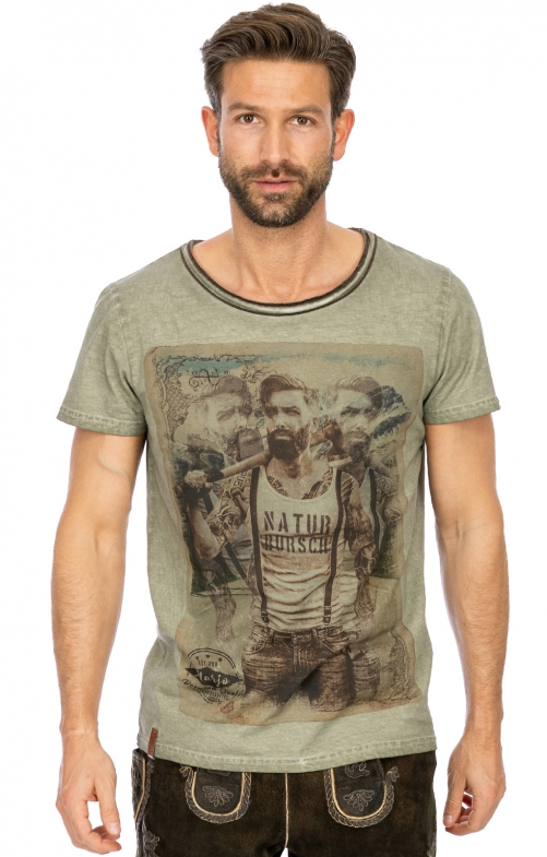 Costumes T-Shirt L104 - MARTIN seagrass melange