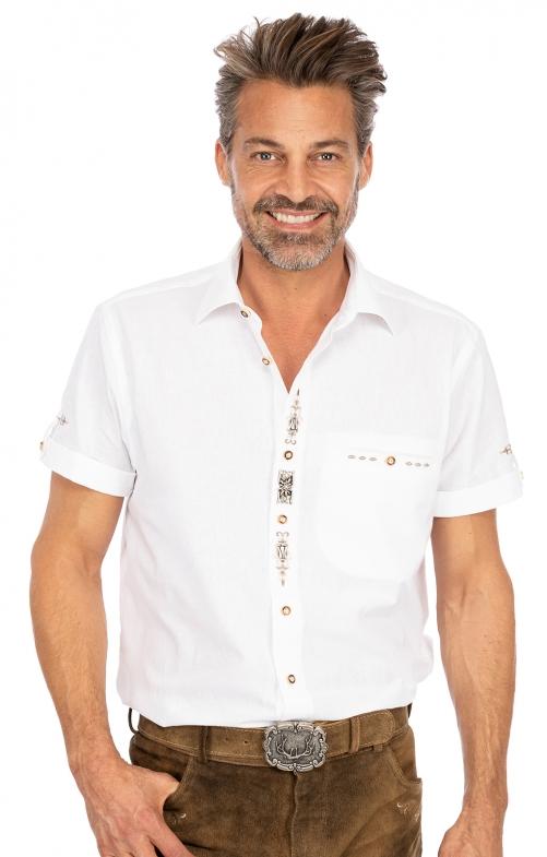 Kurzarmhemd TRAUFBERG weiß