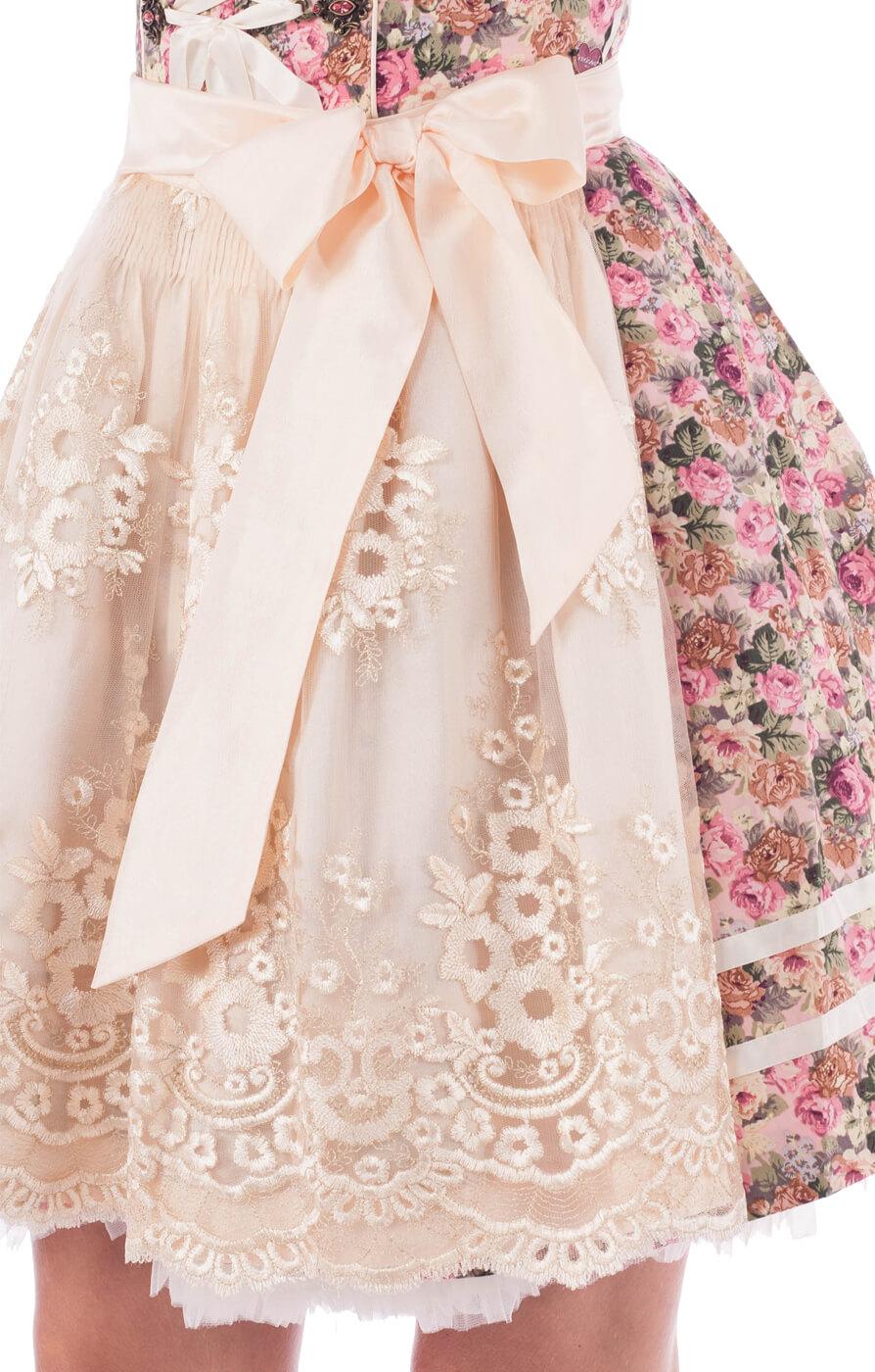 weitere Bilder von Minidirndl Blumenzauber 50cm 2tlg. CHANEL Floraldruck rose