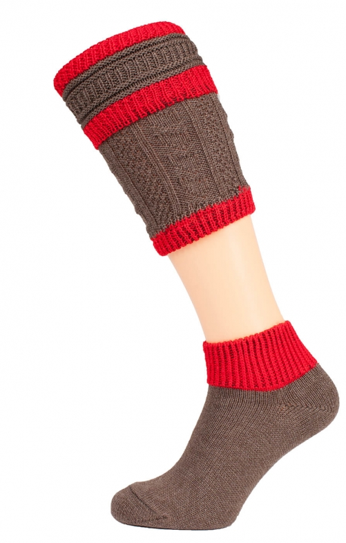 Loferl set with socks CS507 brown red