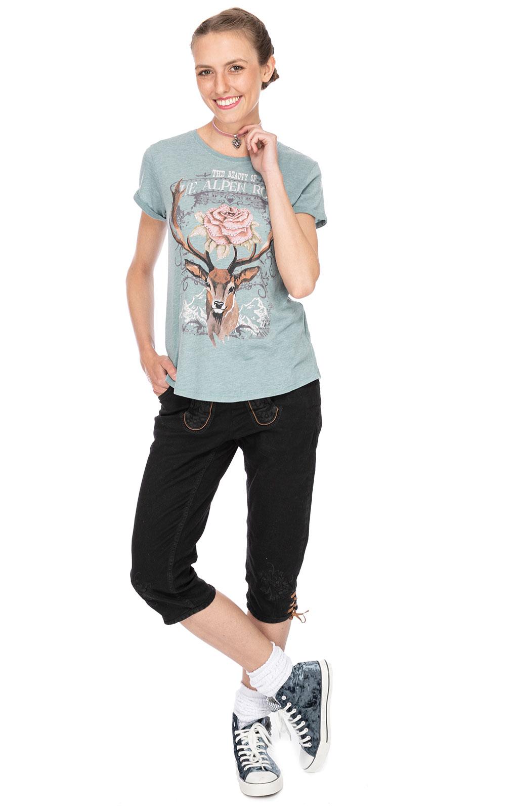 weitere Bilder von Trachten T-Shirt F24 - ALPENROSES tuerkis