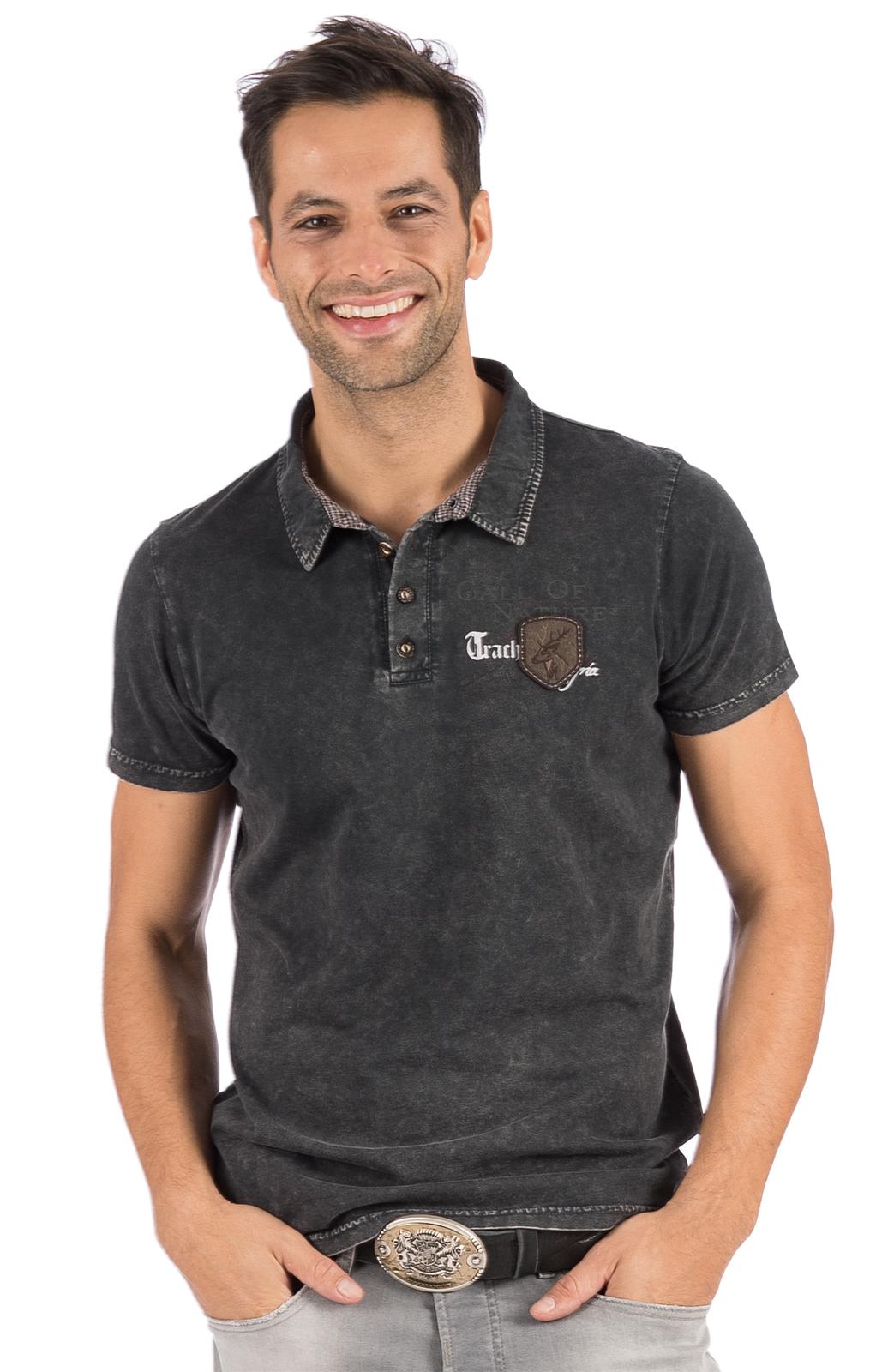 Trachten T-Shirt ODOARDO anthrazit von Hangowear