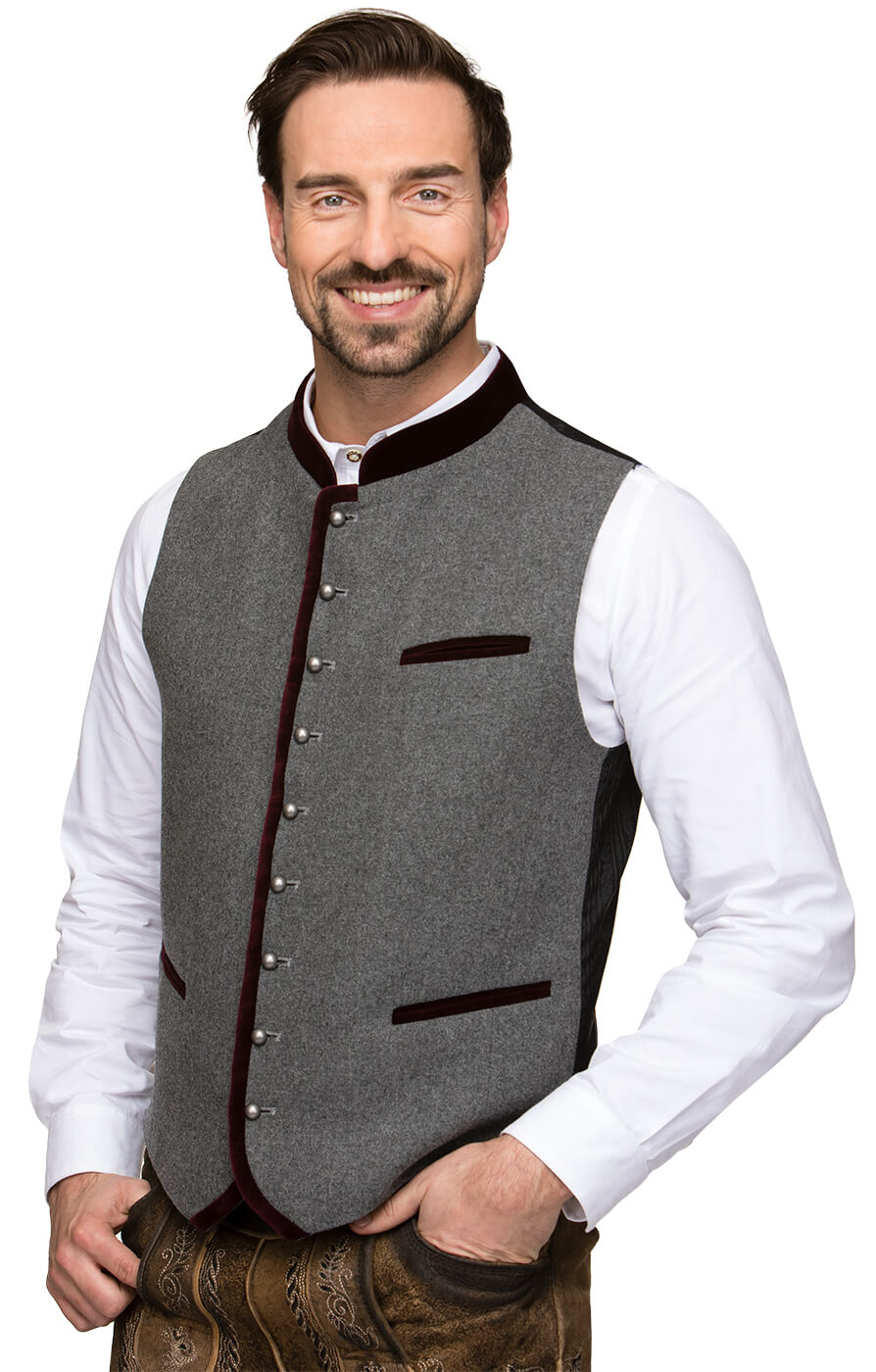 Traditional waistcoat Alonso bordeaux von Stockerpoint