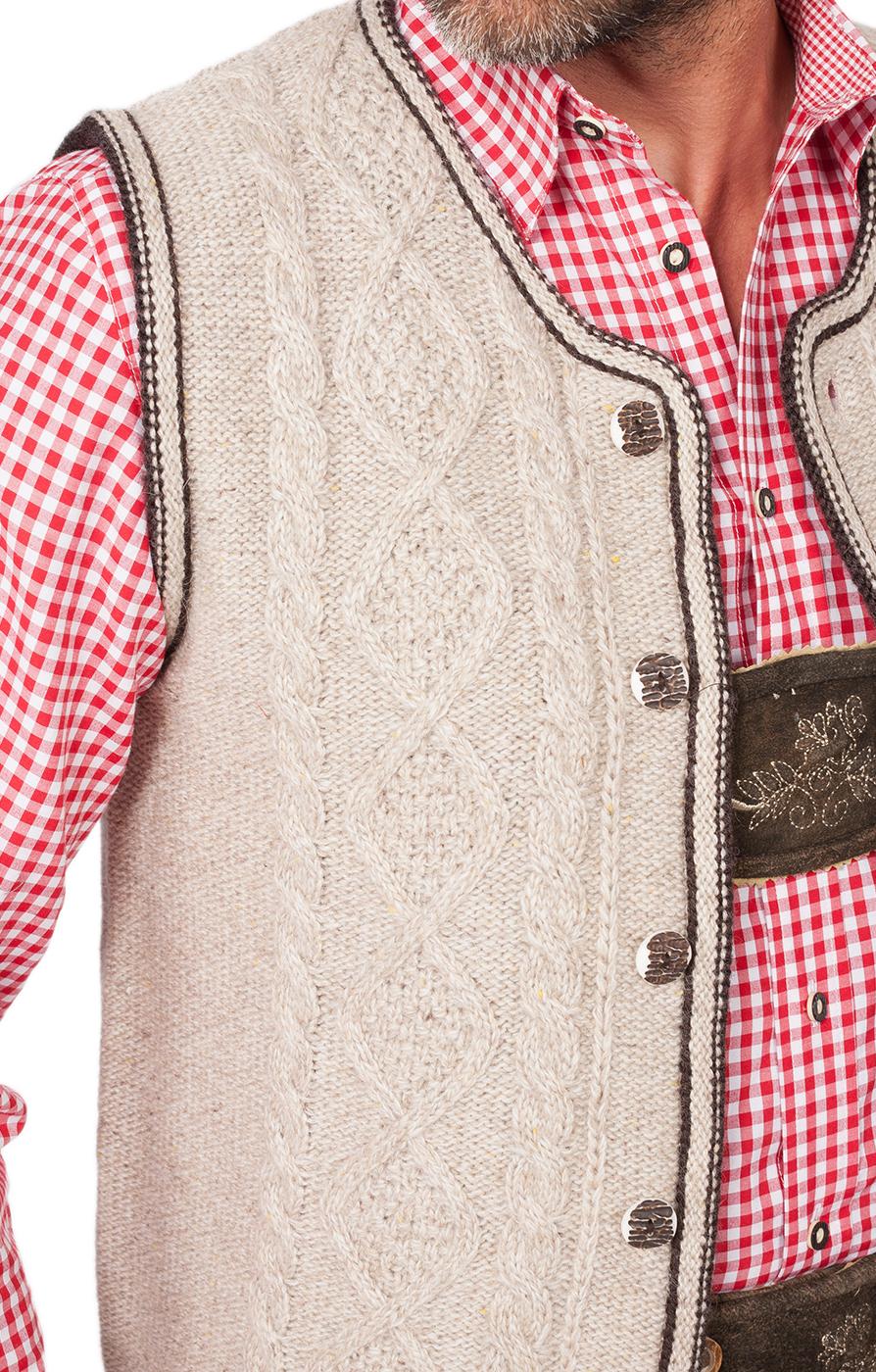 weitere Bilder von Gilet tradizionale in maglia ERMELO nature