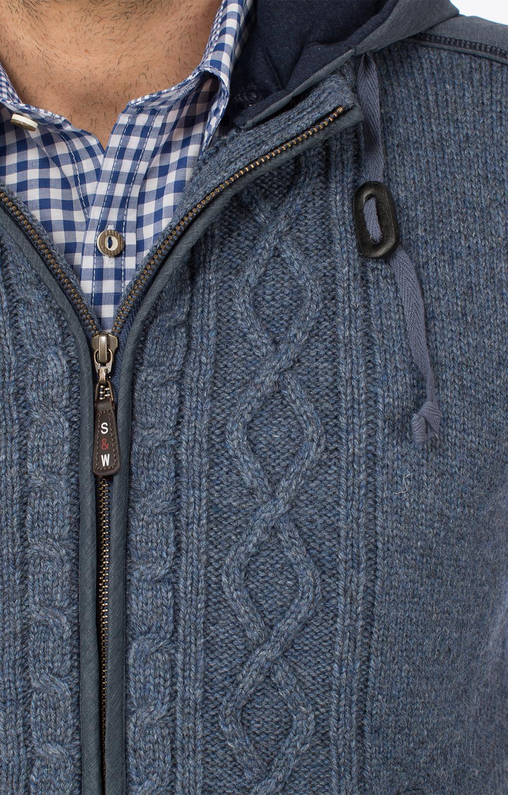 weitere Bilder von Trachtenweste HAINBURG Hoodie jeansblau