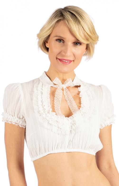 Traditional dirndl blouse LISA ecru