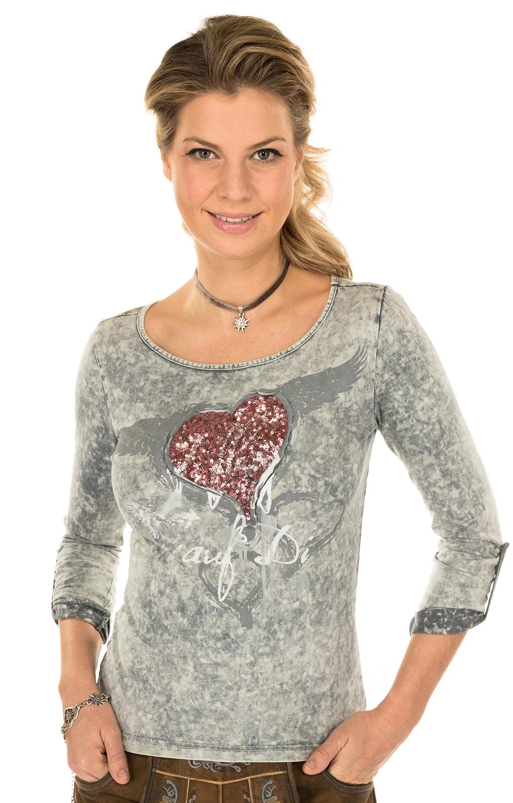 Trachten Shirt K30-FLIAGA gray von Marjo