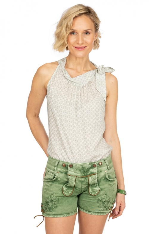 Jeans Short OVIDA dunkelgrün