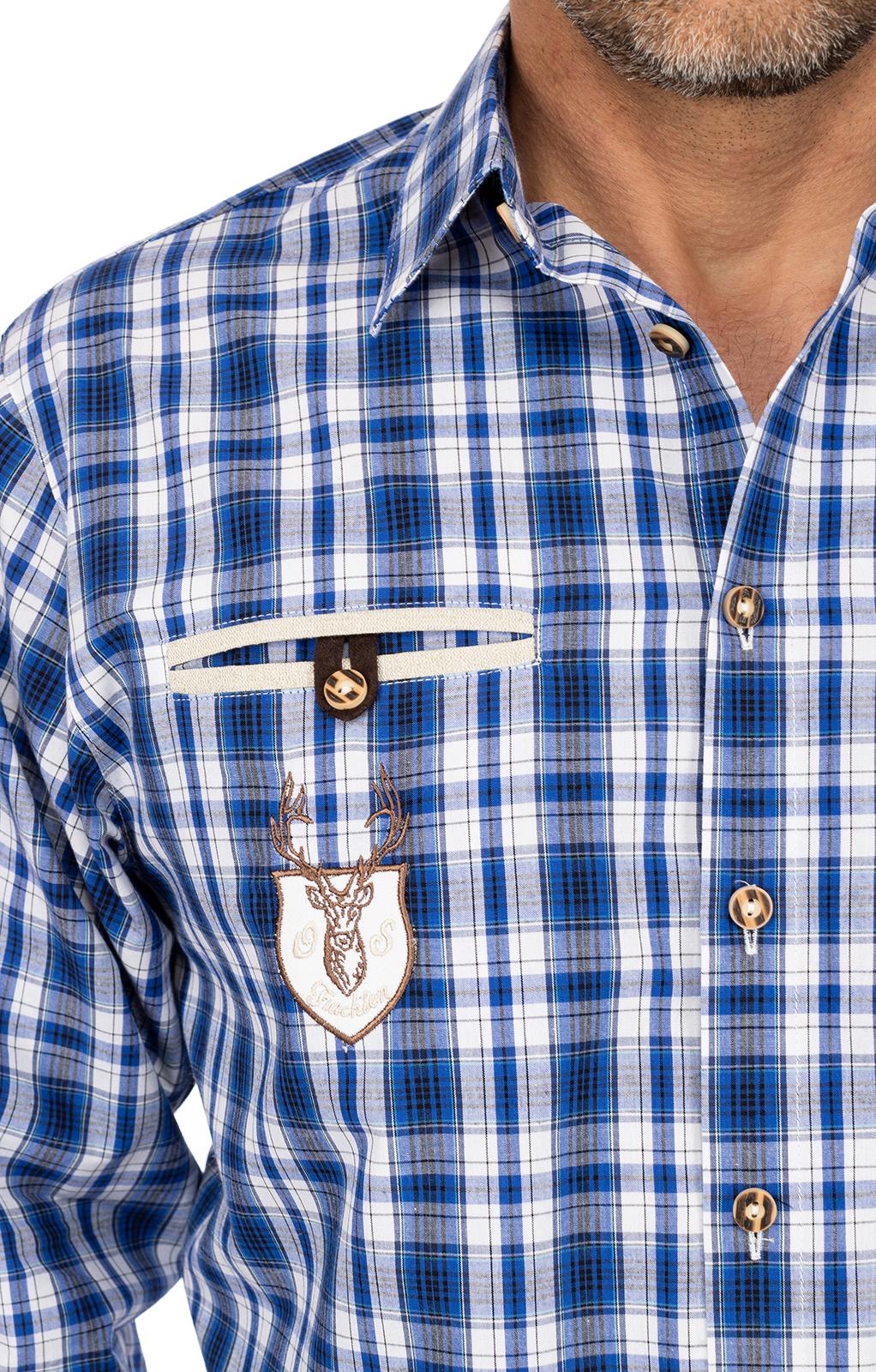 weitere Bilder von Karo Langarmhemd ÜBERSEE blau