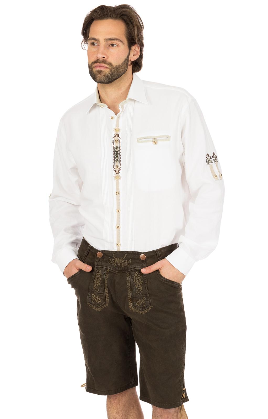 Tiroler korte jeanshort bruin von Hangowear