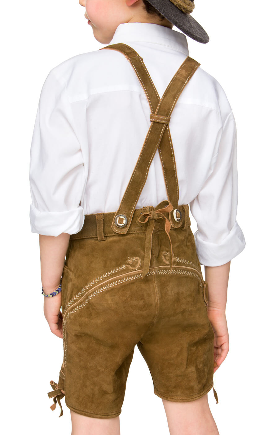 weitere Bilder von Chlidren leather trousers short P-200 lightbrown