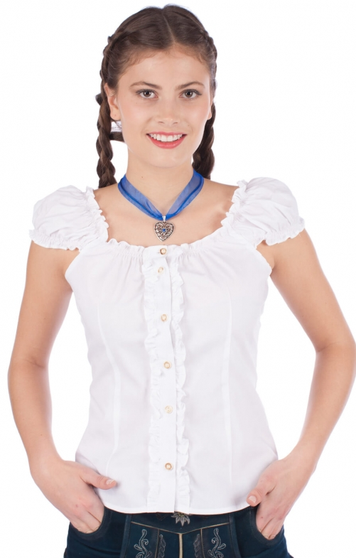 Trachten blouse Milena white