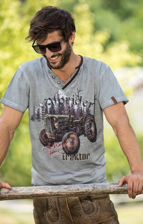 Trachten T-Shirt E15 - KLAAS grau
