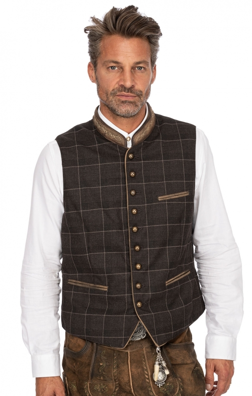 Traditional waistcoat THEO brown