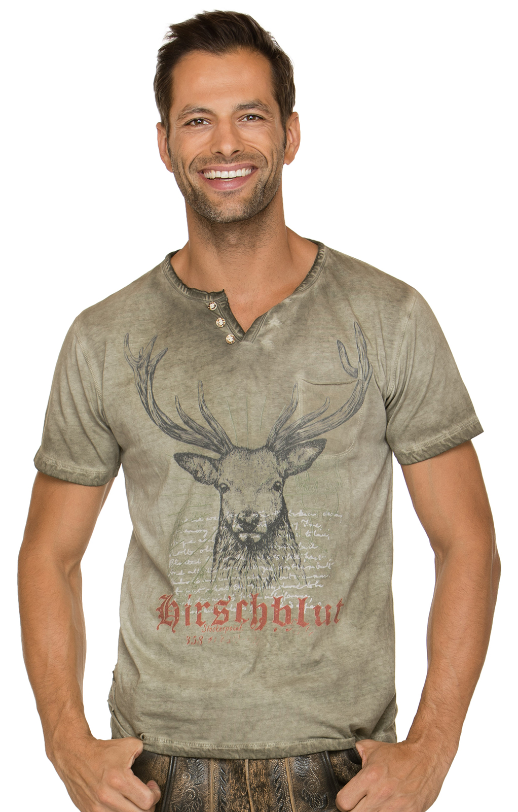 Traditional German T-Shirt Pascal brown von Stockerpoint