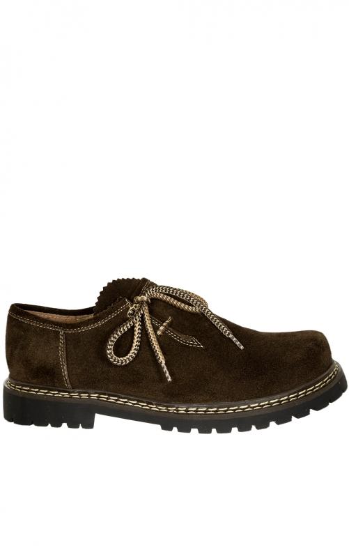 Schuh JULIAN Velour braun