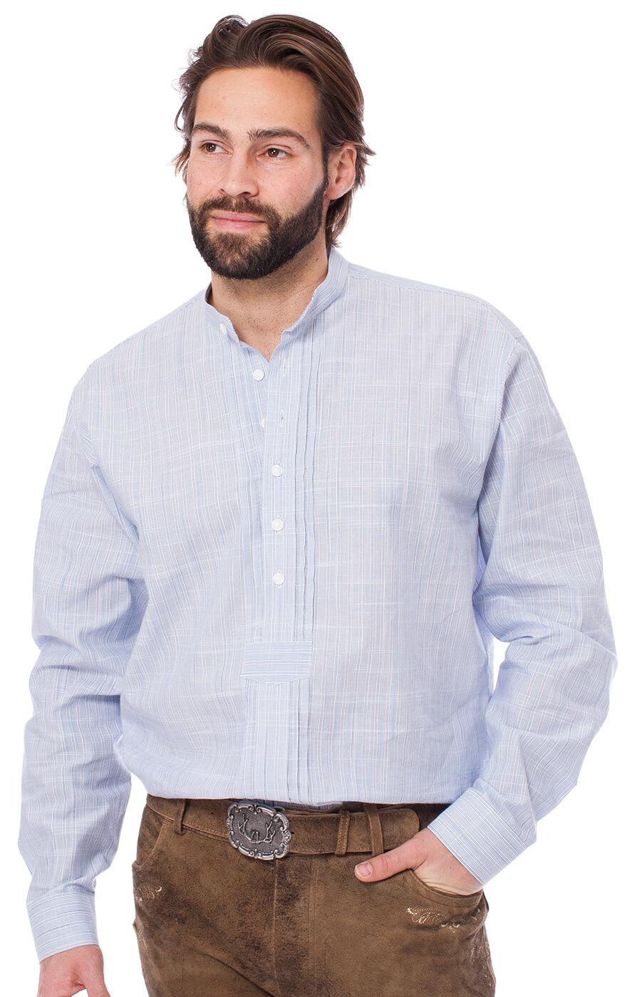 Camicia per Trachten Pfoad 920001-3440-42 blu von OS-Trachten