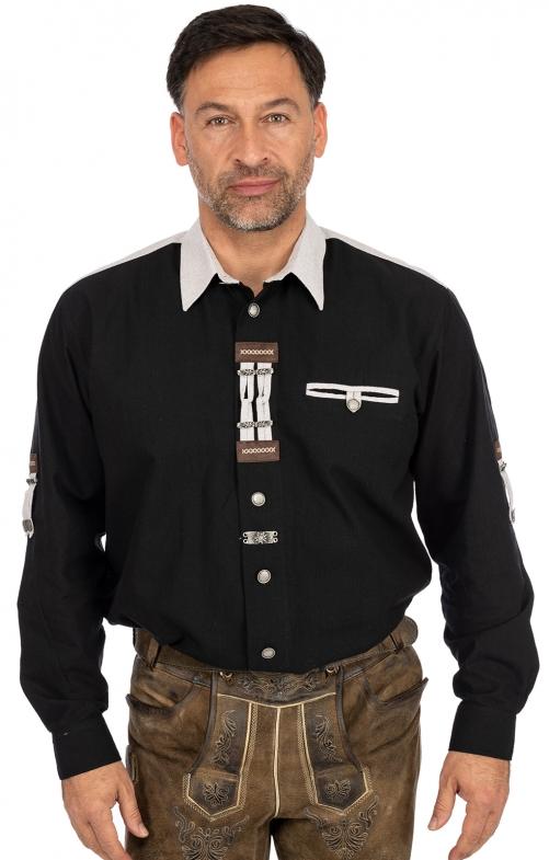 Hemd Langarm 120005-1011-70 schwarz