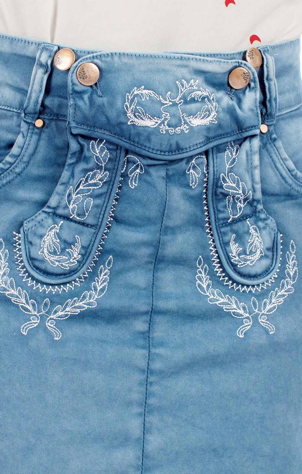 weitere Bilder von Trachtenrock kurz FLORENTINA blau