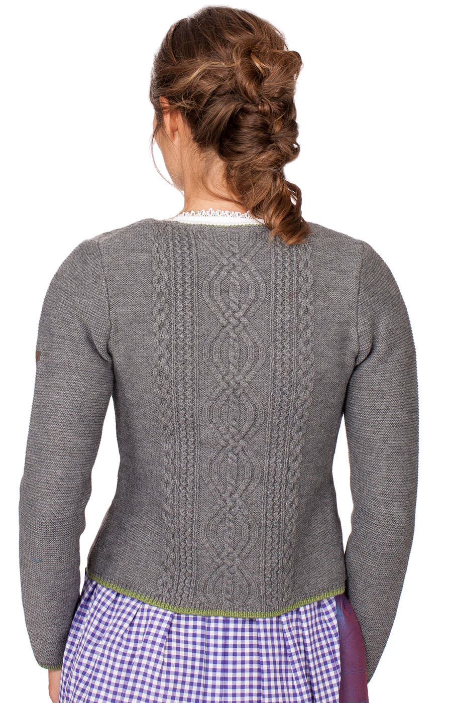 weitere Bilder von Traditional Cardigan Fancy middle gray