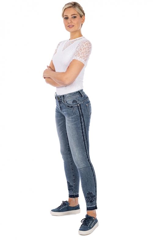 Jeanshose lang PERLA jeansblau