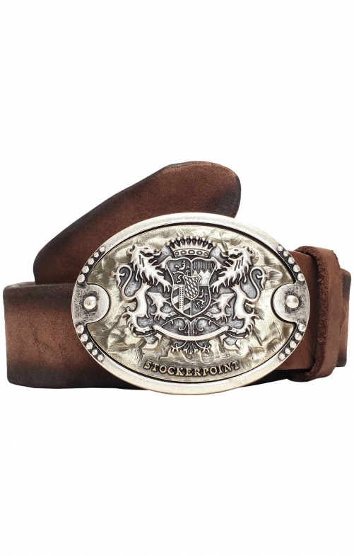 Traditional leather belt GO75mocca