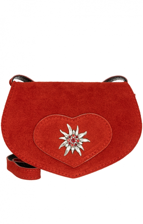 Traditional leather bag TA30110-9196 red