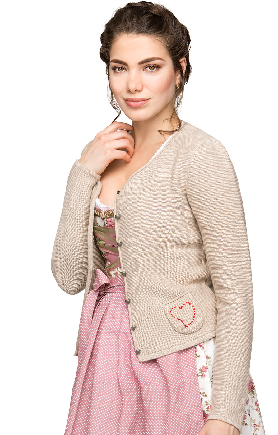 Traditional Cardigan Rosali nature von Stockerpoint