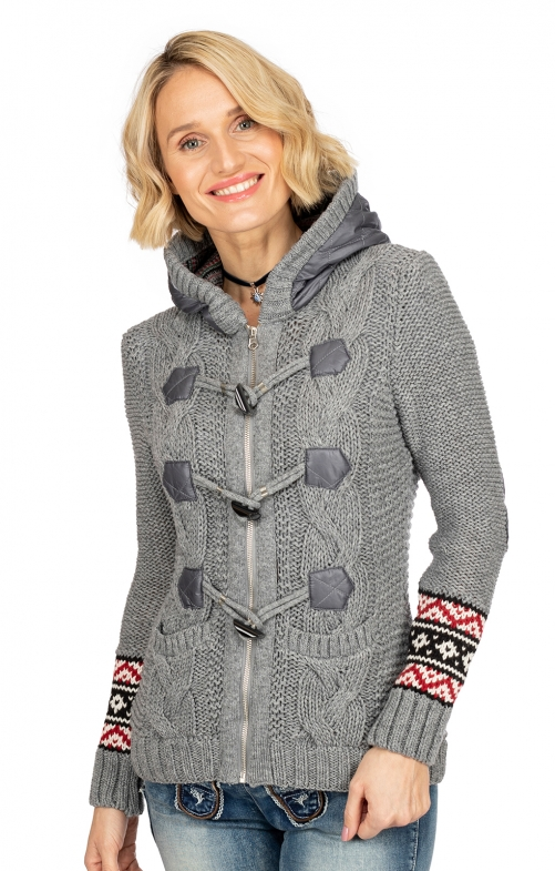 Strickjacke 1024 grau