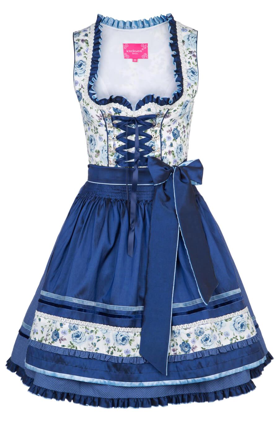 weitere Bilder von Mini-Dirndl 50cm Jessie blauw