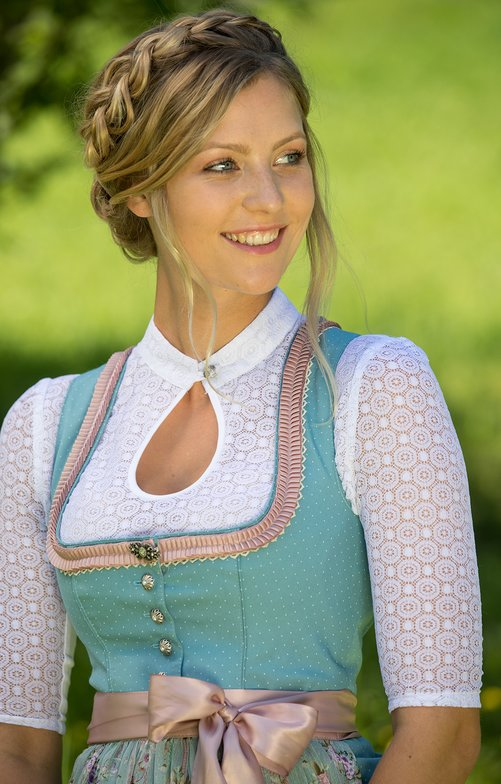 Traditional dirndl blouse BERTA-ANNA white