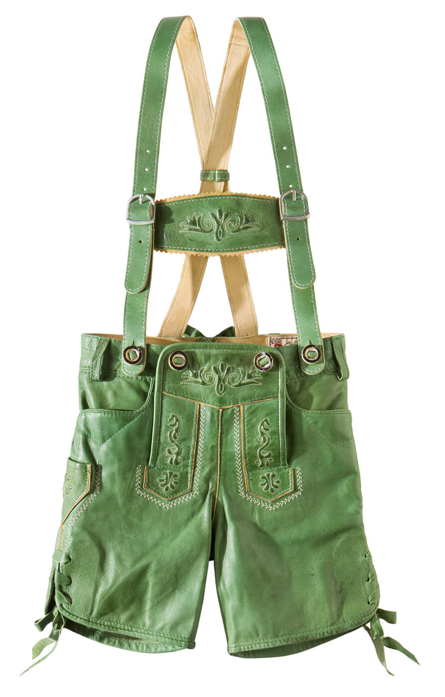 weitere Bilder von Chlidren leather trousers short P-200 greenapple