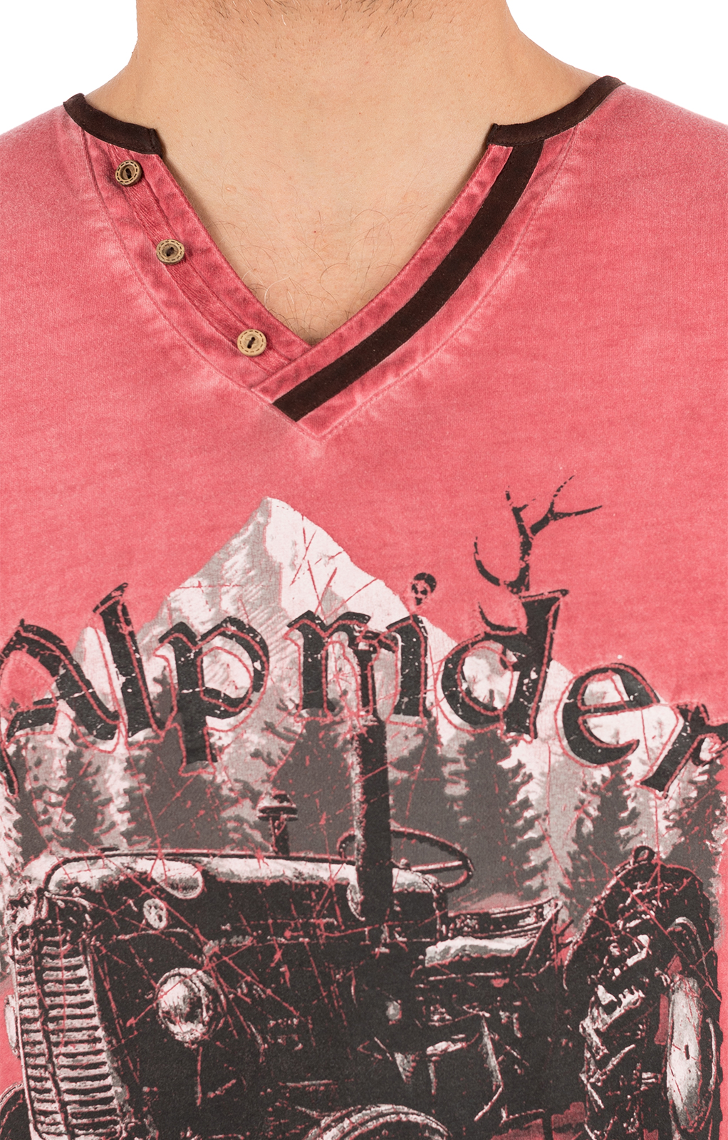 weitere Bilder von Trachten T-Shirt E15 - ALPRIDER ziegel