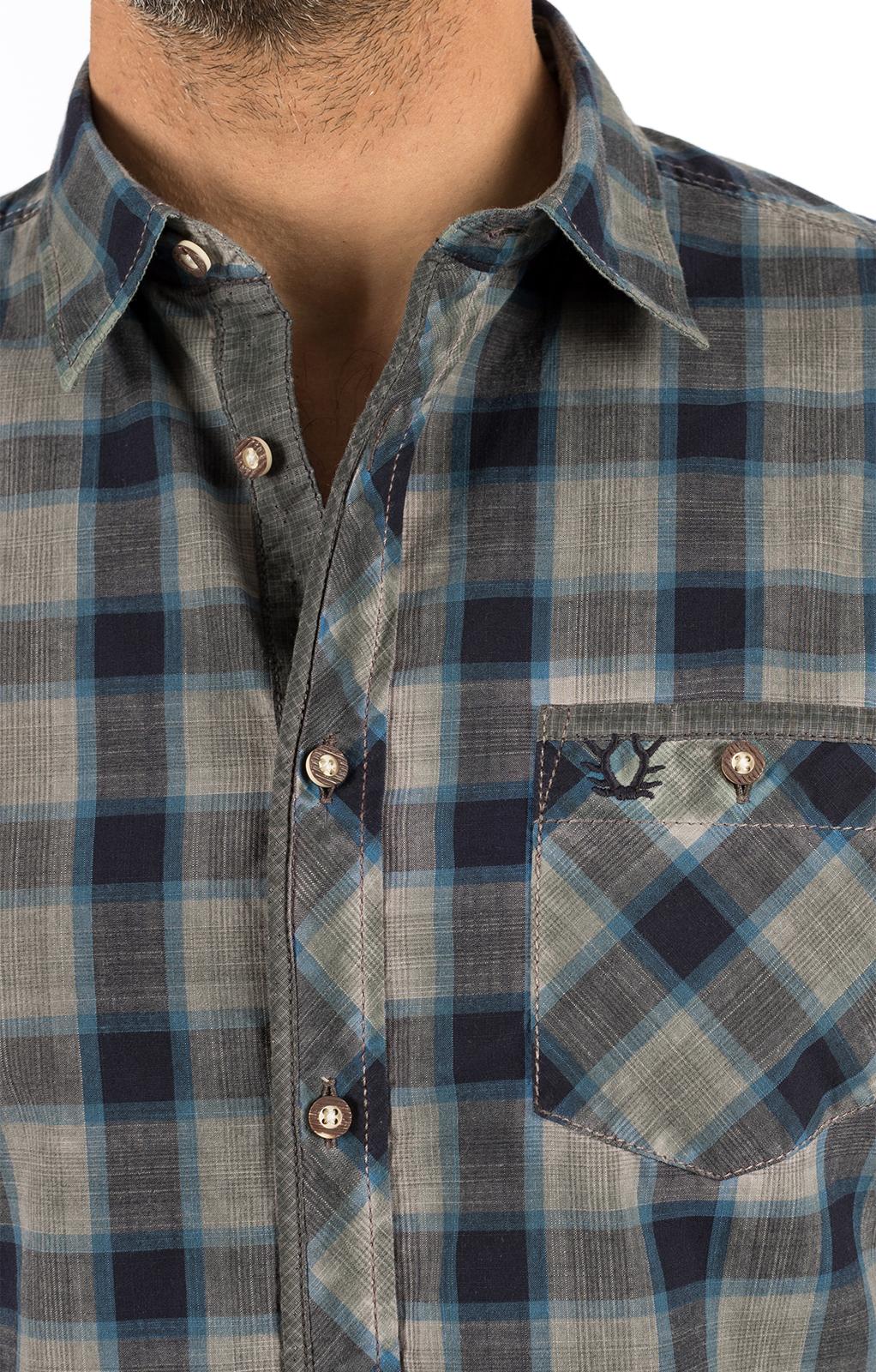 weitere Bilder von Trachtenhemd Langarm FABIAN blau