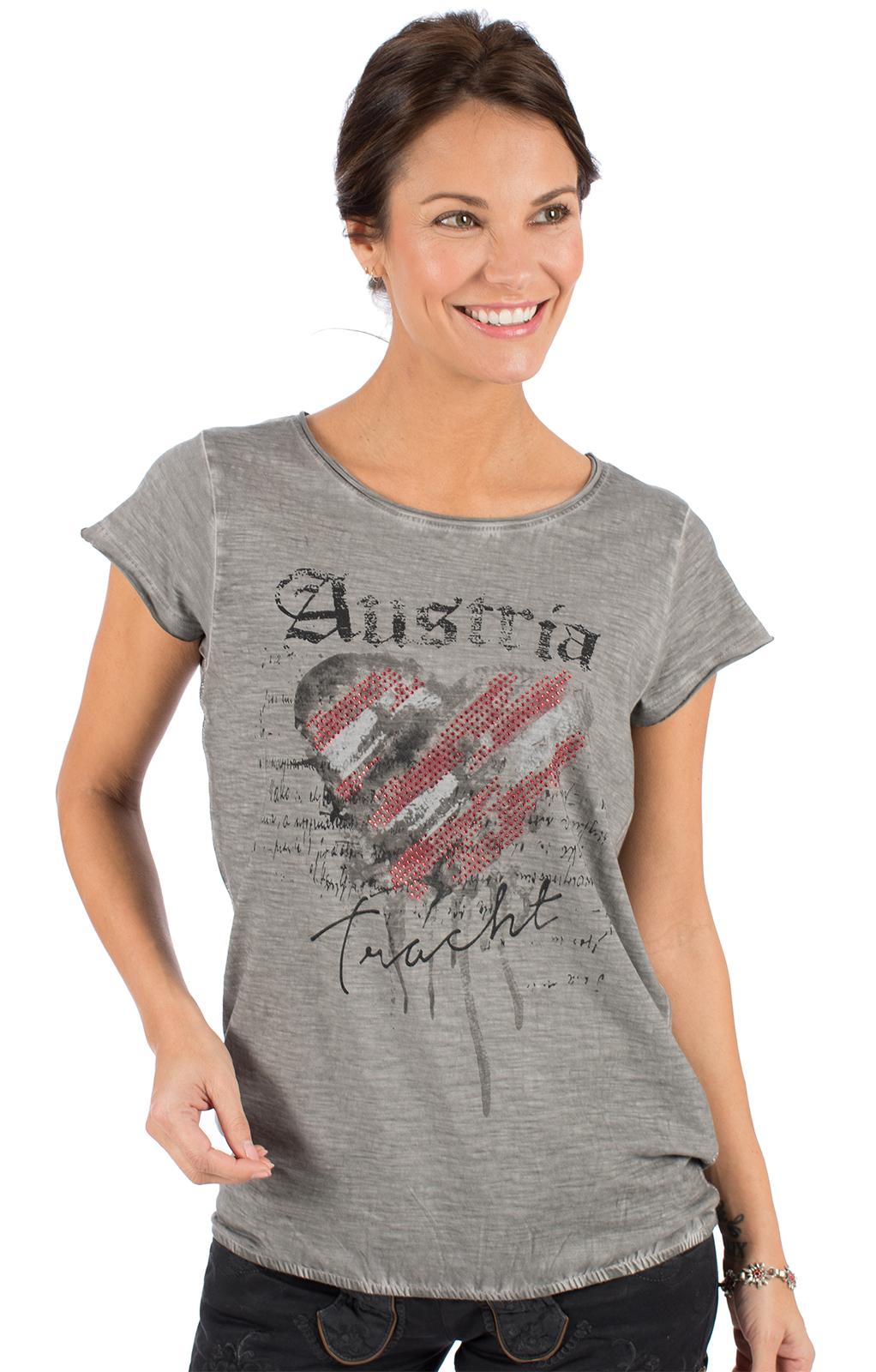 Trachten T-Shirt INKA Austria grau von Hangowear