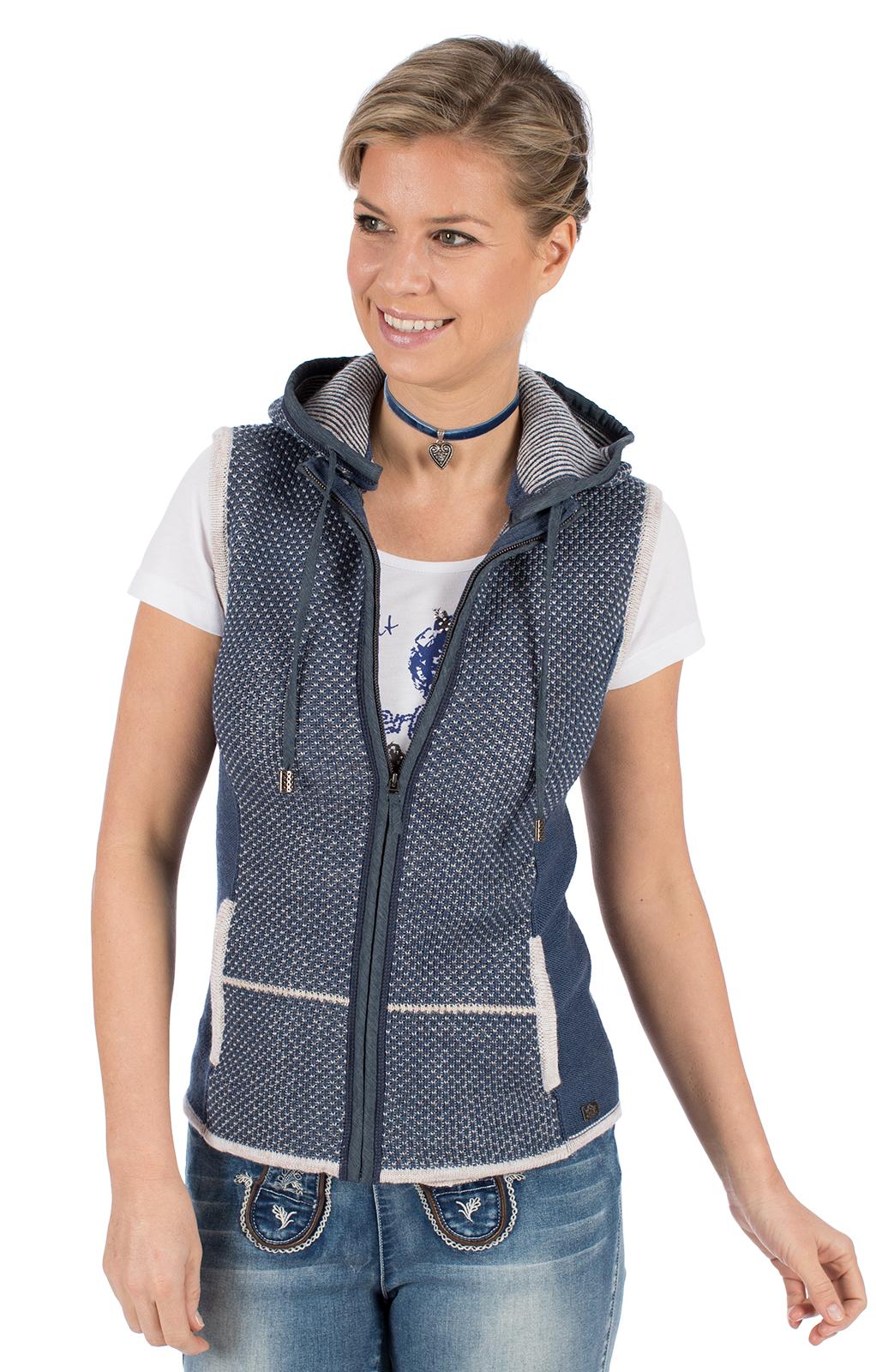 Knitted vest KULM SW blue von Spieth & Wensky