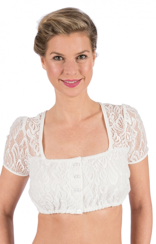 Traditional dirndl blouse LARA ecru