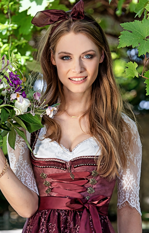 Traditional dirndl blouse NIA-CHRISTINA offwhite