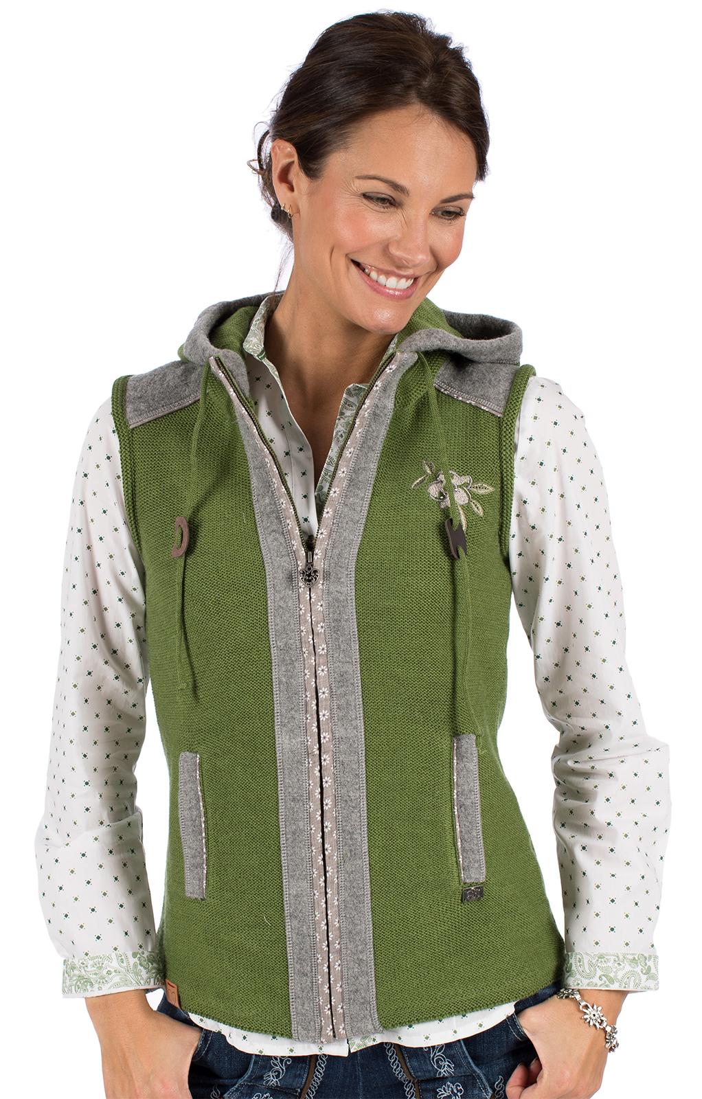 Knitted vest GRAIN green von Spieth & Wensky