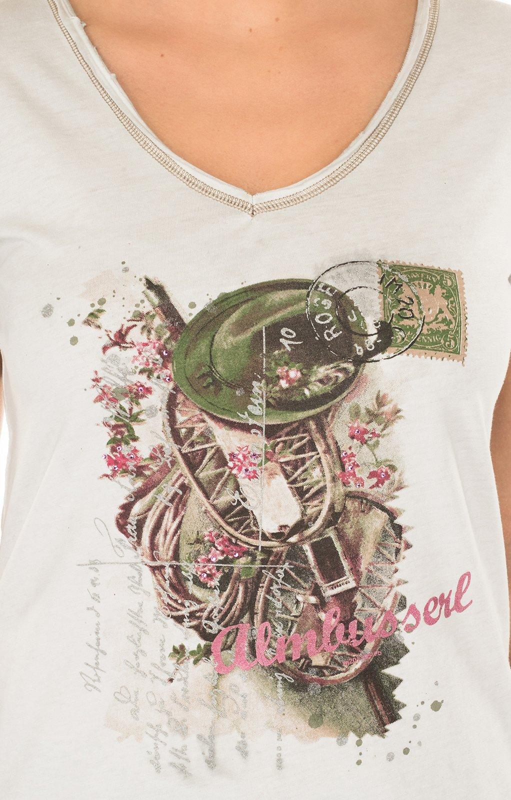 weitere Bilder von Trachten T-Shirt K06-ALMBUSSERL bruin