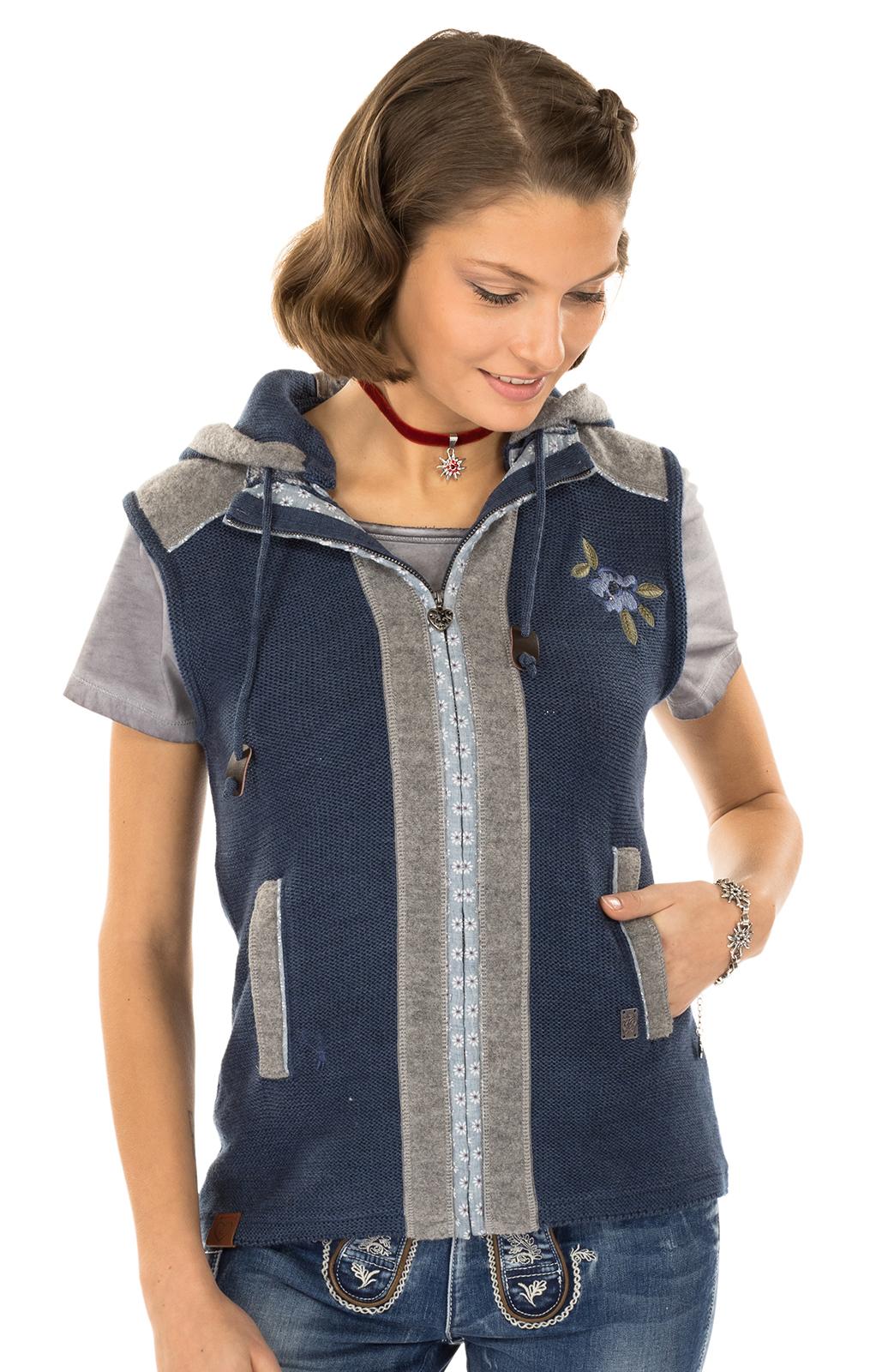 Trachtenstrickweste GRAIN jeansblau von Spieth & Wensky